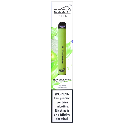 Honeydew Ice Ezzy Super Disposable vape available near me new flavors disposable vape high nicotine disposable vape