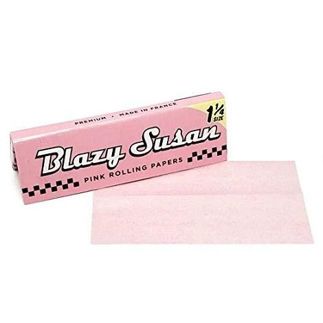Blazy Susan Pink Rolling Paper 1.25 size 50 leaves Per Pack Natural GMO free Transparent Pink color New Papers near me