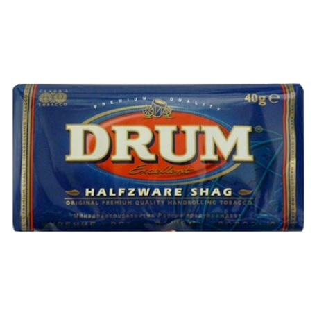 Drum Excellent Halfzware Shag Roll Your Own Tobacco Pouch 40gram best price raw tobacco near me best reviews