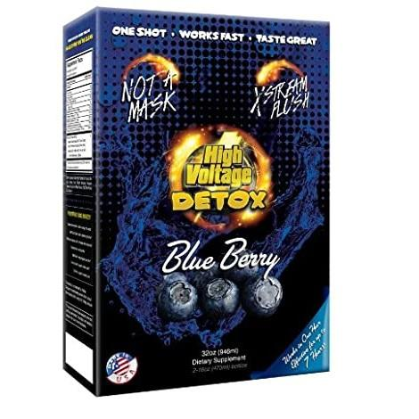 High Voltage Detox Blueberry Flavor Liquid Juice 32 oz 2 bottles 16 oz each in best online price at Ash Vape Smoke