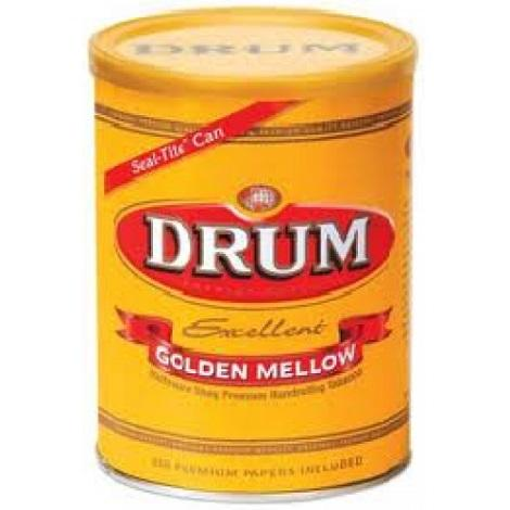 Drum Excellent Golden Melloow 5.2 oz Tobacco Can with 200 Rolling Papers Inside Premium Quality Tobacco