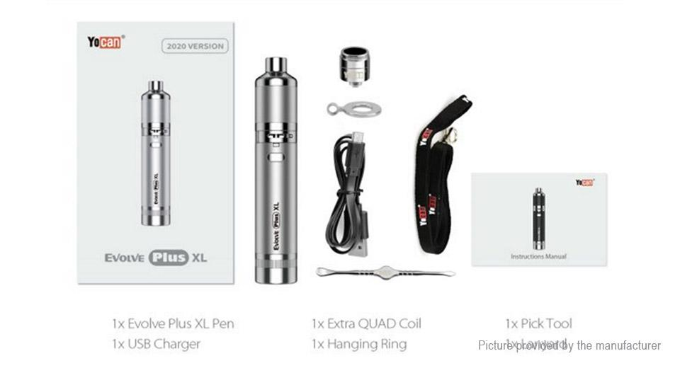 Yocan Latest 2020 Edition Extra Large Yocan Evolve Plus kit for dabbing and wax vaping perfect vape smoke delivery