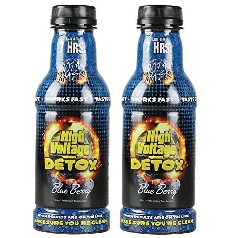 High Voltage Detox Drink Blueberry Liquid Body Cleansing Juice 32oz bottles per pack in best online prices