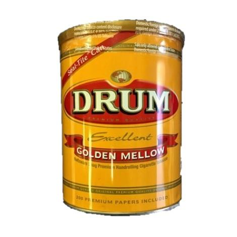 Drum Excellent Gold Mellow 5 oz Tobacco Can Premium Quality Papers Inside New Prices Tobacco Shop