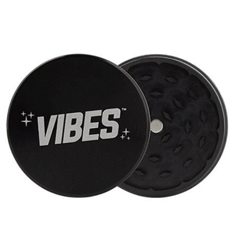 Vibes 2 Piece Black Grinder Vibes X Aerospaced new High Quality sharp tobacco grinder near me online tobacco shop