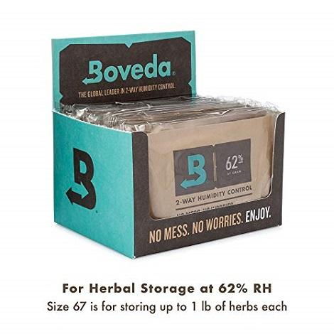 Boveda 2-Way Humidity Packs 62% 10packs near me online shop dry herbs container pack humidity controller
