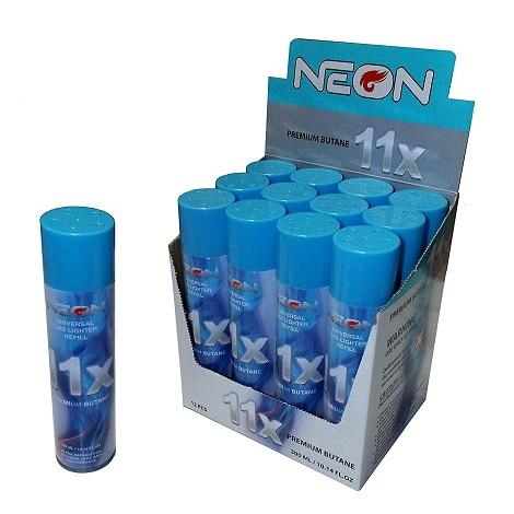 Neon 11x Premium Butane near me online shop high butane capacity lighter refiller bottles