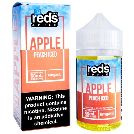 Reds Apple Iced Ejuice Peach Iced Flavor 6mg nicotine thorat hit eliquid collection near me in best online prices