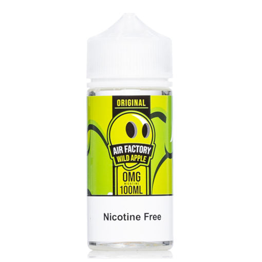 Original wild apple 100ml bottle nicotine free e Liquid vape juice by air factory new collection vape juices