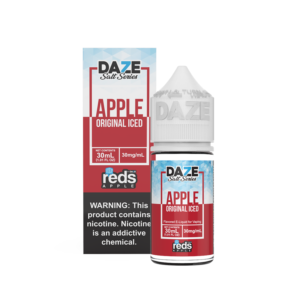 Apple original Iced Nicotine Salt Eliquid 30ml 30mg ejuice bottle near me by Apple Reds Daze Series of Salts
