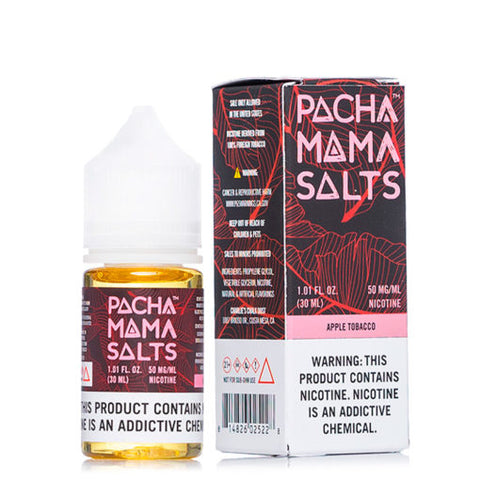 Pacha Mama Salt Nicotine E Liquid 30ml Apple Tobacco Flavor with 50mg nic salt extreme flavor and throat hit
