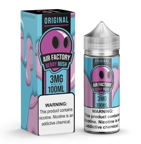 Berry Rush Air Factory 3mg 100ml Eliquid New Ejuice collection with perfect nicotine satisfaction and vape cloud