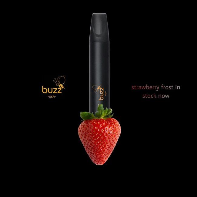 Buzz USA Disposable Vape E-cigarette Prefilled Charged Flavored vape Device Buzz Vape Ready to Use Strawberry Flavor