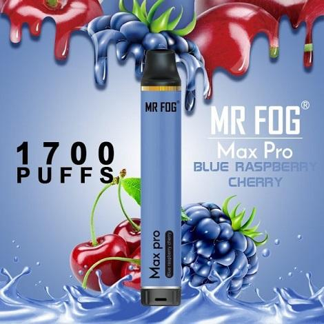 Mr Fog Max Pro Disposable Vape Blue Raspberry Cherry Flavor one time use 5% 6ml ejuice Near Me Online Shop