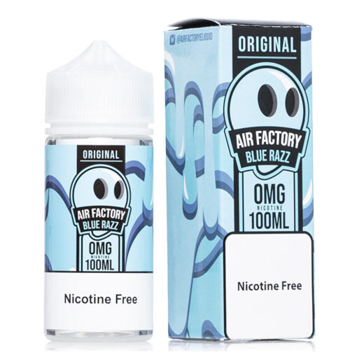 Original blue razz air factory eliquid 100ml bottle vape juice for beginners nicotine free liquid juice for all vapes