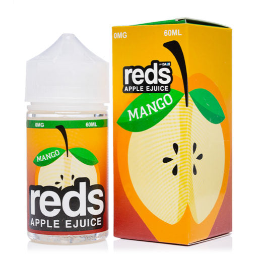 Mango Flavor Reds Apple Ejuice 60ml e-liquid bottle near me online shop best prices reds vape juices nicotine free