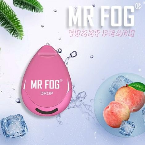 Mr Fog Drop Disposable vapes new design disposable vapes on the go fuzzy peach new flavors vape