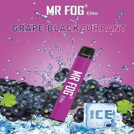 Elite Disposable Flavor Grape blackcurrant nicsalt by Mr Fogg