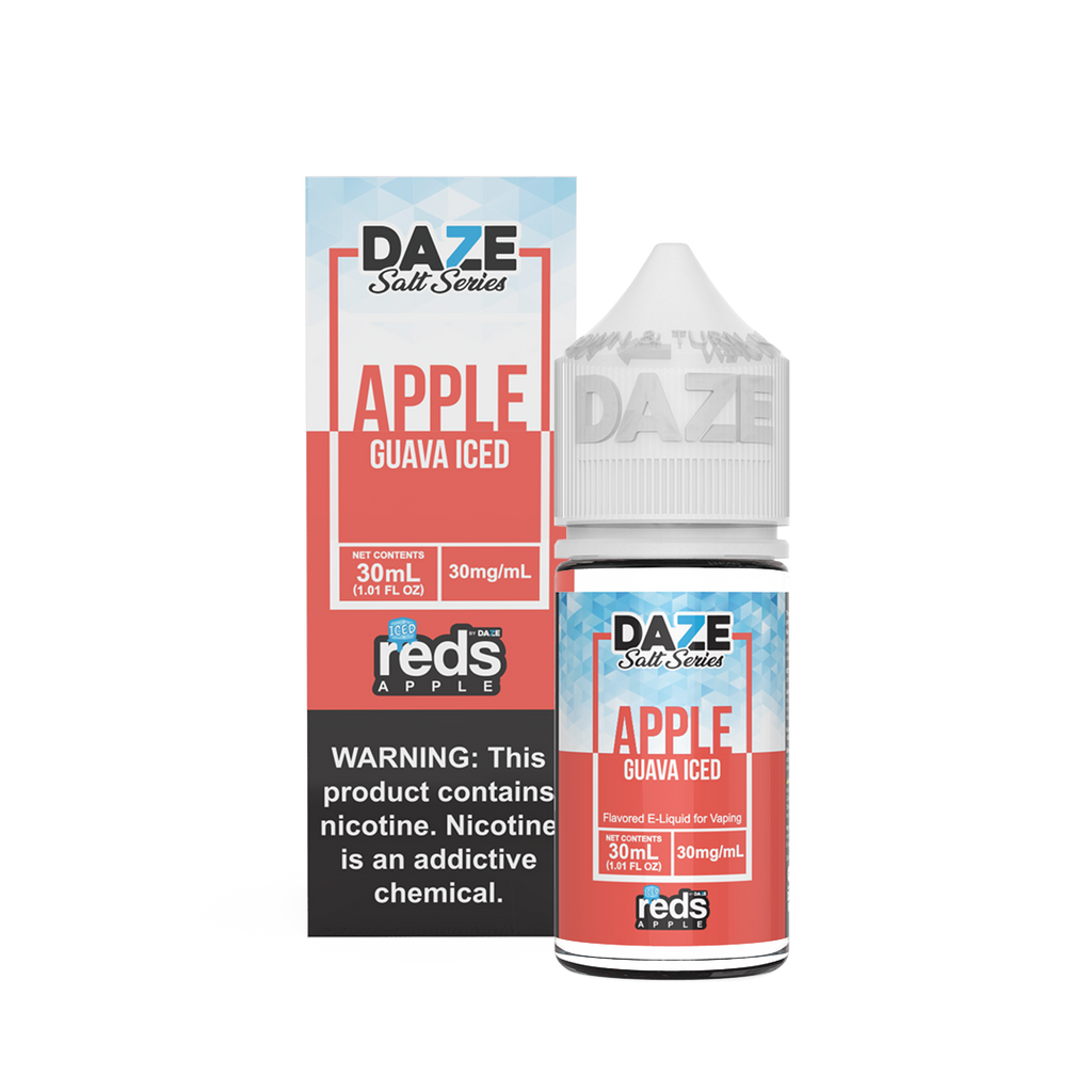 Guava Iced 30mg 50mg 30ml Apple Red Refreshing Flavor Eliquid by Daze Salt Series new vape juices near me in low prices