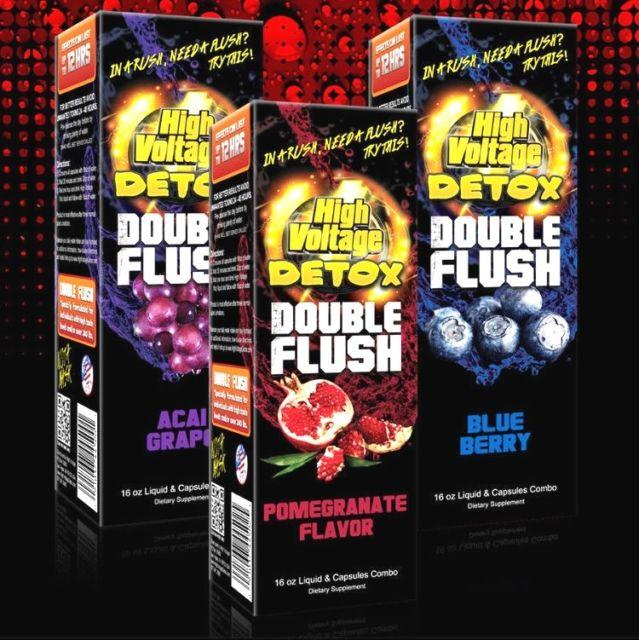High Voltage Detox Double Flush Toxins Remover Liquid Juice New flavors natural extract juice for clearing blood