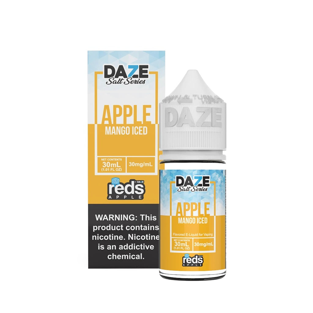 Mango Iced Apple Reds 30mg 30ml Eliquid by Daze Salt Series High Nicotine Ejuice near me Best anti smoking juice