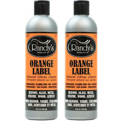 Randy's Orange Label Vaporizer Cleaning Liquid Solution for Vape waste easy cleansing vape shop near me