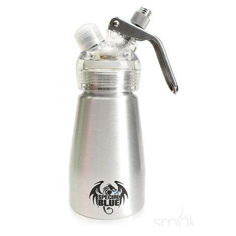 Silver Color Special Blue Whipped cream dispenser 1/2 Print Alumium Bottle Dispenser near me