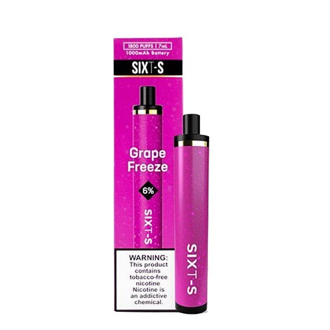 SIXT-S Disposable Vape Device Kiwi Berry Ice Flavor Large Travel Vape near me online vape shop 1800 puffs 6% nicotine