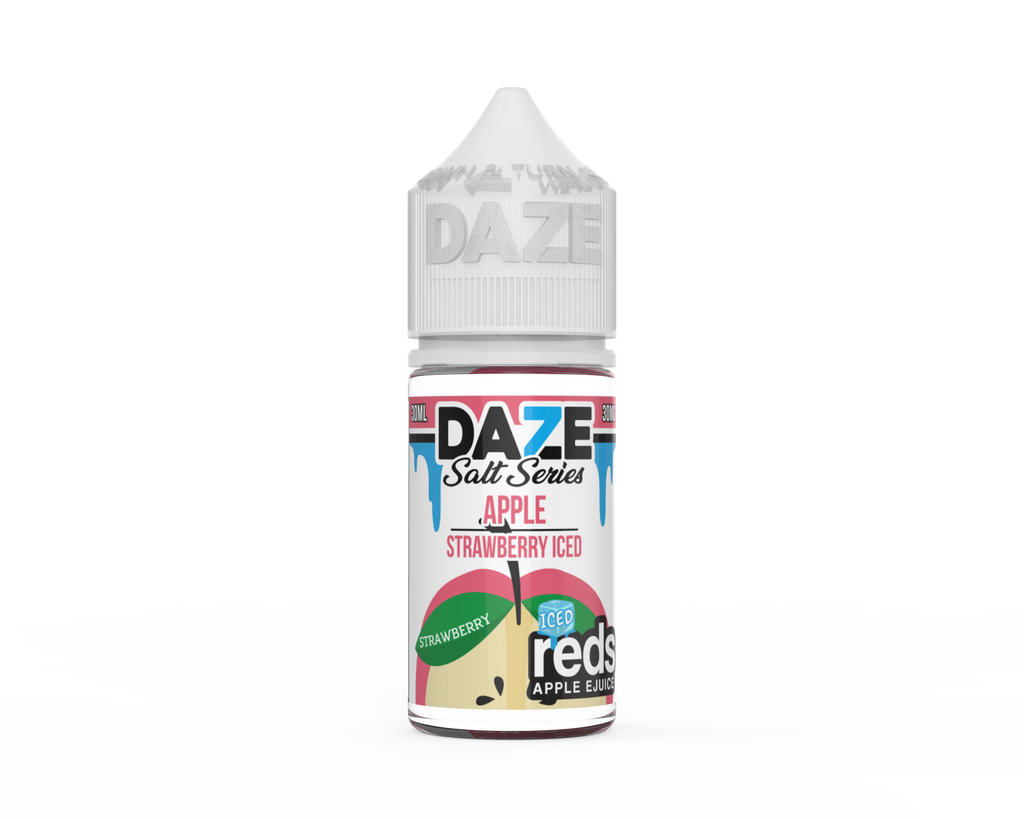 Strawberry iced Daze Salt Series Apple Reds strong nicotine ejuice for perfect throat hit near me on vape shop
