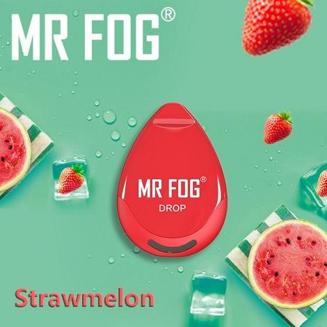 Strawmelon flavor vape near me Mr Fog Drop Design disposable vape near me latest flavors