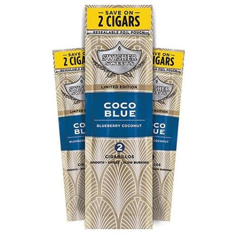 Swisher Sweets Coco Blue New  Flavored CIgars fresh mini cigarillos for smoking online tobacco shop near me