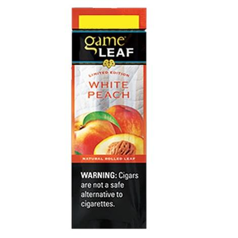 Game White Peach cigars 2 per pack new cigarillos online available best sealed natural flavored best reviews cigar