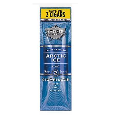 Swisher Sweets Flavored Cigarillos Arctic Ice cool mint mini cigar 2 per packet sealed pack fresh cigars