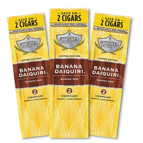 Swisher Sweets Banana Daiquiri Cigarillos 2 per packet mini cigars near me Swisher Sweets reviews