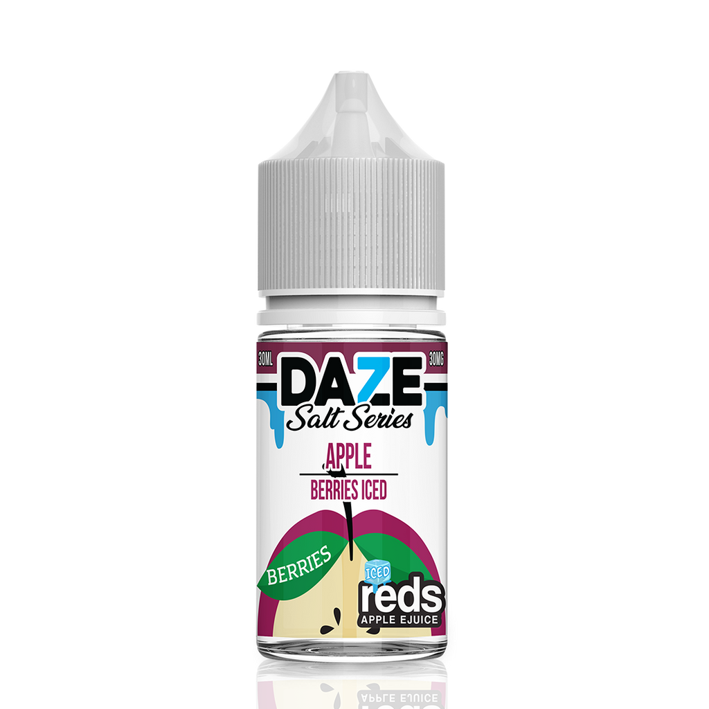 Apple Reds Berries Iced Salt Eliquid by Daze Salt Series for strong nicotine hit and perfect vaping in best online prices