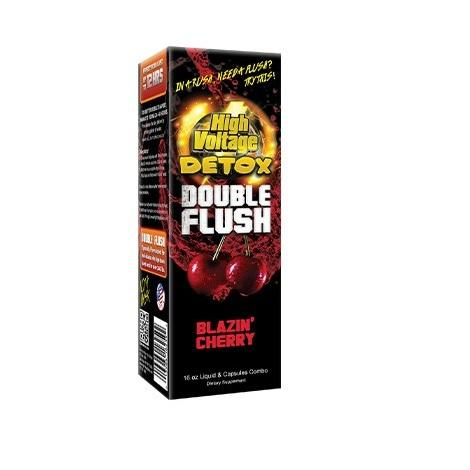 Blazin Cherry High Voltage Detox Double Flush clear blood within 30 minutes with fruity detoxing flavors