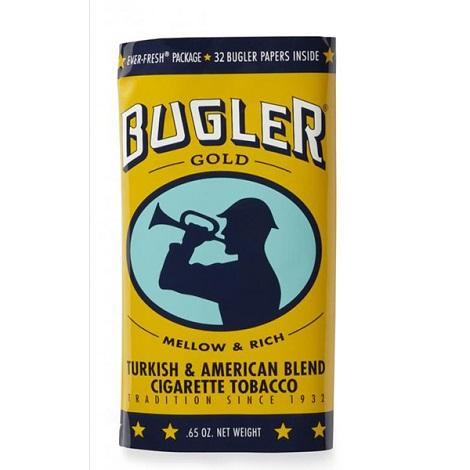 Bugler Gold Mellow and Rich Turkish and American Blend Cigarette Tobacco 0.65oz bag pouch nea me best price online