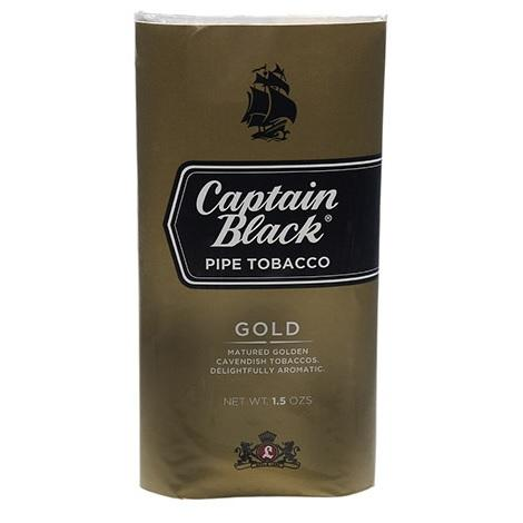 Captain Black Pipe Tobacco Gold Flavor Natural Aromatic New Rolling Tobacco near me online shop best reviews 1.5oz pack