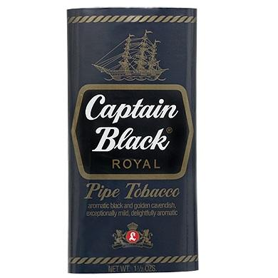 Captain Black Pipe Tobacco Royal Flavor Sweet Aromatic Tobacco for Rolling Near me Online tobacco shop best price 1.5oz pack