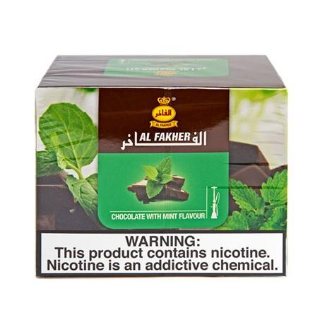 Chocolate mint tobacco hookah flavor by Al Fakher 250mg Shisha tobacco chocolate smoke taste