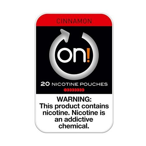 ON Nicotine Pouches 8mg 20 count Cinnamon flavor high nicotine swabs satsifaction new flavors