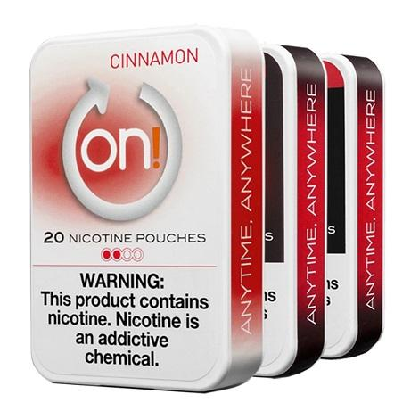 ON Nicotine Pouches 2mg 20 count Cinnamon Flavor Tobacco Free Nicotine Pouches for Nicotine Therapy