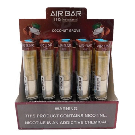 Air Bar Lux Galaxy Edition Coconut Grove New Disposable Vape Device long lasting disposable travel vape in best online price