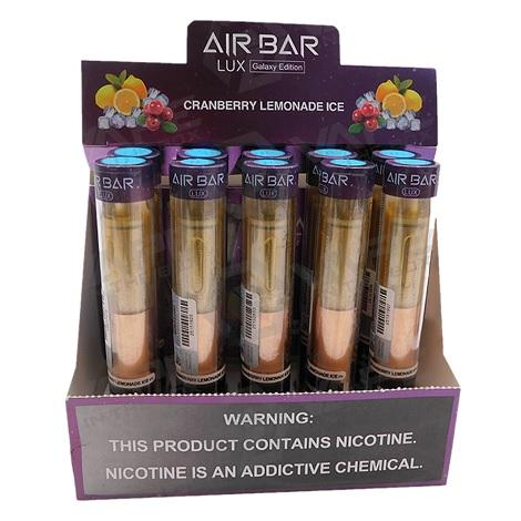 Airbar lux galaxy edition disposable vape device Cranberry Lemonade Ice flavors air bar disposables near me 2.7ml
