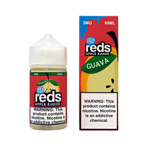 Reds Apple Iced Ejuice 60ml Guava Flavor best nicotine hit vape juices new anti smoking eliquid by Reds