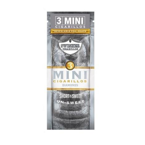Swisher Sweets Minis Dimaond Cigarillos 3 mini cigars per packet near me online tobacco shop Best Review Cigar price