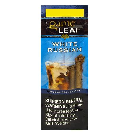Game Leaf White Russian Flavor Cigar 2 per pack best priced cigars near me online tobacco shop for rolling