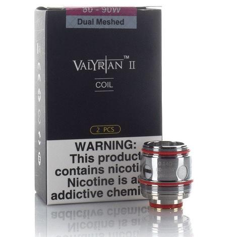 UWELL VALYRIAN 2 Dual Meshed 0.14ohm 80-90W 2 pieces per pack new high resistance subh ohm coils near me