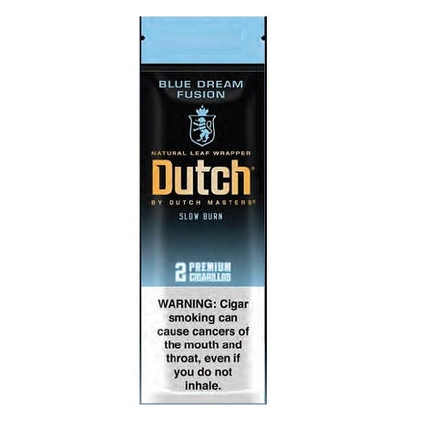 Dutch Blue Dream Fusion Slow Burning Cigarillos Pouch 2 Cigars per packet near me online tobacco shop