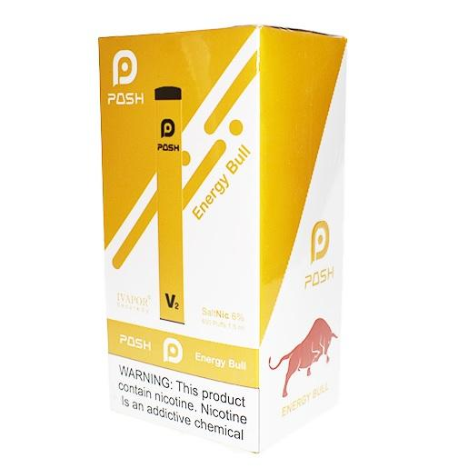 Posh V2 Disposable Energy Bull Energizing Vape Device near me 2.1 ml ejuice vape device
